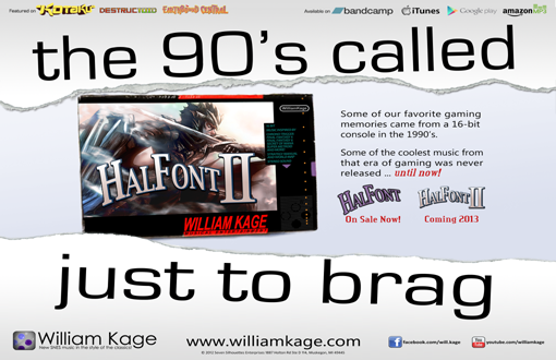 Halfont 2 SNES William Kage